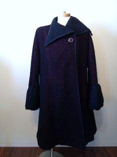 1940s Wool Swing Coat Herman Beispel Original - GORGEOUS - size M / L #HermanBeispel