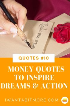 Money quotes - a few of the best to inspire you to save money, make money, invest money and generally be pretty damn good with money! #moneyquotes #moneyhacks #moneysavingtips