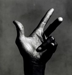 Irving Penn, The Palm of Miles Davies, New York, 1986