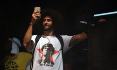 Colin Kaepernick wears a T-shirt depicting the late Huey Newton, co-founder of the Black Panthers and a proponent of African-American militancy in the (Getty) 49ers Fans, Richard Sherman, Taking A Knee, Colin Kaepernick, Power To The People, Sports Figures, National Anthem, New York Jets, My Black