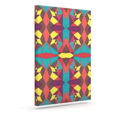 "Empire Ruhl ""Abstract Insects"" Multicolor Outdoor Canvas Art"