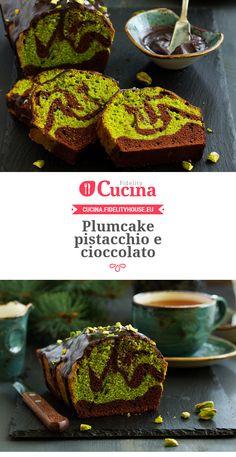 Plumcake pistacchio e cioccolato Bolo Cake, Torte Cake, No Bake Desserts, Delicious Desserts, Dessert Recipes, Real Food Recipes, Great Recipes, Cooking Recipes, Plum Cake