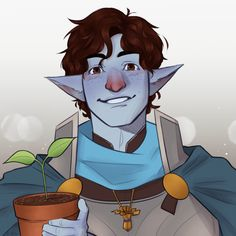 Post By kæt (kaet-draws.tumblr.com}  commission of a firbolg cleric!