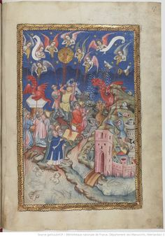 Seven bowls.Seven vials. Apocalypse flamande BNF Seven bowl - on the bowl - on the bowl - on the rivers. bowl - on the bowl - on the Beast's bowl - on the Euphrates. bowl - on the air. Apocalypse, Dead Fish, Thunder And Lightning, Book Of Hours, Blue Clouds, Bnf, Illuminated Manuscript, 16th Century, Mythology