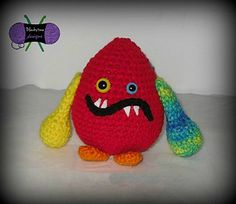 """PDF stored in Ravelry library Who doesn't love Monsters? Especially soft customizable Monsters? These guys are 6"""" of squishy fun! The pattern includes the instructions to make Curlicues and a Mohawk."""