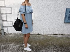 CARMEN denim dress // outfit by Mirjam from www.miiju.ch