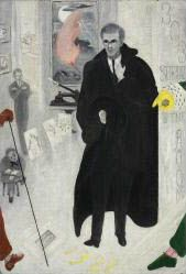 Florine Stettheimer, 1871 - 1944, Portrait of Alfred Stieglitz, 1928, Oil on canvas. In Stettheimer's portrait, Stieglitz dominates the center of the Intimate Gallery—which he established in 1925 after closing 291—and is surrounded by representations of the six artists he most often exhibited. #CBartistseye