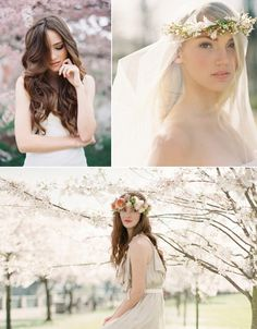 Wedding Hair Down-Styles: 5 Bridal Looks The one with the flowers AND the veil. YES.