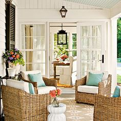 Side Porch | SouthernLiving.com | #SLIdeaHouse