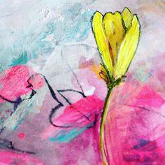 "Gefällt 119 Mal, 9 Kommentare - Michelle Schratz { MiSchra } (@raspberrybluesky) auf Instagram: ""Just had to grab some paint after I saw the first bloom of the season in my back yard!!…"""