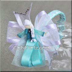 Frozen Elsa Headband Elsa Ribbon Sculpture Hair Clip Princess Hair Clip Princess Hair Bow