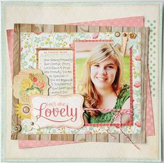 Isn't She Lovely + lots of other cute scrapbook layouts