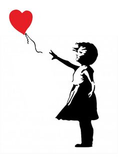 Banksy Girl with Heart Balloon Car Laptop Decal Sticker FREE SHIPPING! www.stick-e-decals.com