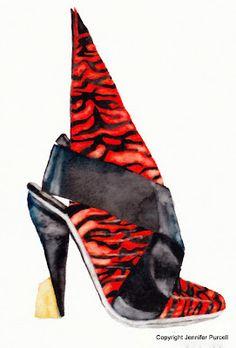 Balenciaga shoe Illustration