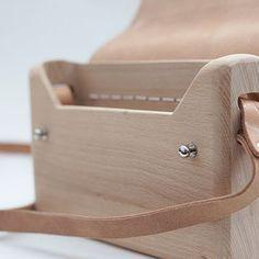 Leather Wood Bag / Wood Messenger Bag / Leather Wood Purse / Leather Wood Shoulder Bag / Cross Body Bag / Lady's Handbags Original