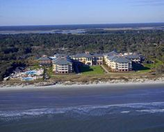 Aerial View Of The Sanctuary Luxurious 255 Ocean Front Hotel On Kiawah Island South