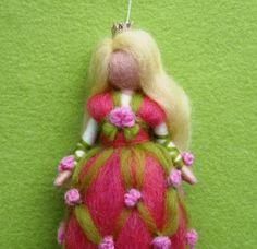 SLEEPING BEAUTY Needle Felted Wool Doll Fairytale Princess Spring Fairy Faeries Soft Sculpture Waldorf Inspired. $26.00, via Etsy.