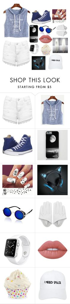"""hanging out with the League"" by winternightfrostbite ❤ liked on Polyvore featuring Miss Selfridge, WithChic, Converse, Apple, Lime Crime and Nasaseasons"
