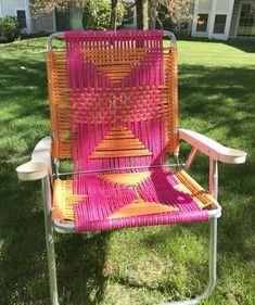 macrame lawn chair tutorial - My French Twist lawn chairs macrame lawn chair tutorial - My French Twist Outdoor Cushions, Outdoor Chairs, Outdoor Furniture, Modern Furniture, Patio Chairs, Adirondack Chairs, Desk Chairs, Office Chairs, Room Chairs