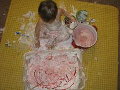 I might have to be brave and do this activity this winter. Play Create Explore: Christmas Themed Shaving Cream Sensory Bin