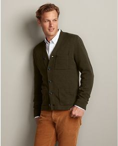 """This sweater. Olive """"heather leaf"""" color. Paired with jeans would be nice."""