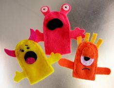 titeres de dedo monster finger puppets ideas