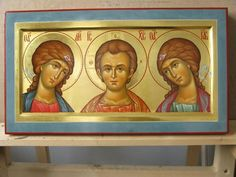 Byzantine Icons, Byzantine Art, Paint Icon, All Icon, Orthodox Icons, Religious Art, Jesus Christ, Hand Painted, Archangel