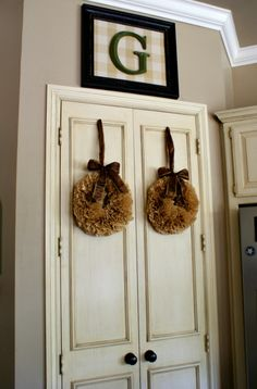 coffee filters wreath.