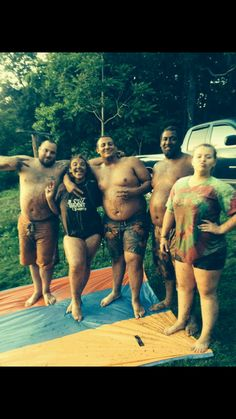 Mud sliding with part of my second family