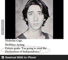 """Nicholas Coppola is Nicholas Cage's born name ... """"When predictions come true"""""""