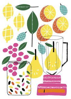 Egal ob als selbstgemachter Sommer Cocktail oder als bunte Illustration: Smoothies sind lecker & auch eine schöne Wanddekoration