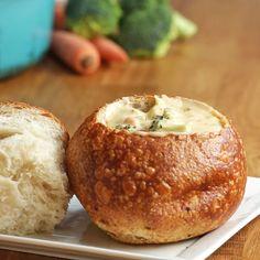 One-pot Broccoli Cheddar Soup by Tasty