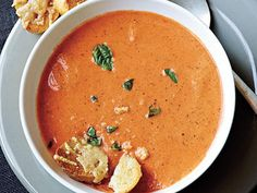 Tomato-Basil Soup   Going to college means you're on your own for meals. Rather than depending on dining halls and fast food, try these easy-to-make recipes. Not only are theybudget-friendly, but these recipes include tips and techniques that are the foundations of any good cook worth their grilled cheese or chocolate cake, like roasting a chicken and making soup. College is a time for learning—both in the classroom and kitchen.