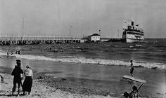 View of the Pier and the Americana (Ship) 1917