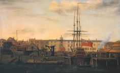 Francis Holman, 'A Dockyard at Wapping' c.1780-4