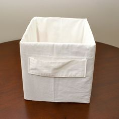 Make this box out of a pillow case and cardboard.  Fun and easy and cute.