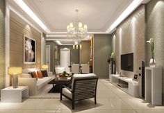 Interior Design Living Room Chandelier