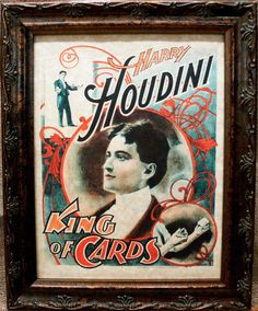 Everyone has a human that just intrigues them to endless lengths, Harry Houdini is that person for me. Houdini is on my name list for Children, in fact. Carnival Nursery, Parchment Paper, Copper Color, All Print, The Magicians, King, Frame, Cards, Prints
