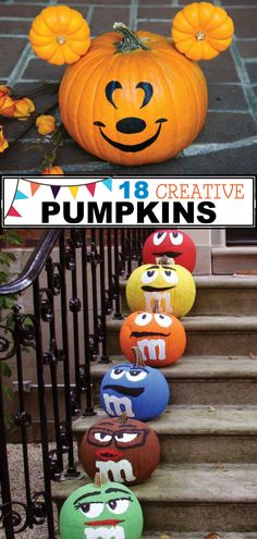 If you don't appreciate scary halloween decor, you have to see these creative decorated pumpkins. These adorable pumpkins are so fun and cute. If you are looking for a less scary decorations for Halloween this year, you have to check… Continue Reading → Frozen Halloween, Halloween Diy, Halloween Pumpkin Designs, Vintage Halloween, Cool Pumpkin Designs, Halloween Labels, Halloween Witches, Halloween Quotes, Halloween Horror