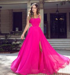 Vestido Pink, Vestido Dress, Hollywood Fashion, Tumblr Girls, Aesthetic Clothes, Color Pop, Formal Dresses, Maxi Dresses, Ideias Fashion