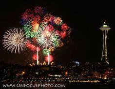 Fireworks on Elliott Bay