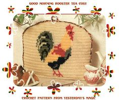 crochet rooster free patterns | CROCHET PATTERN Chicken Cockerel Rooster Tea Cosy | eBay