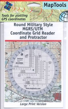 Amazon.com : Map Tools Round Military UTM/MGRS Grid Reader & Protractor : Outdoor Recreation Topographic Maps : Sports & Outdoors