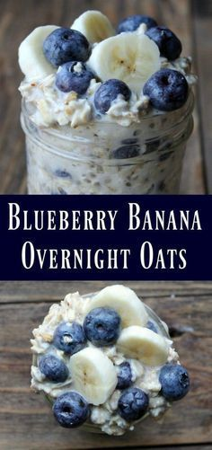 This is a delicious oats in a jar recipe… Blueberry Banana Overnight Oats Recipe. This is a delicious oats in a jar recipe…,Healthy recipes Blueberry Banana Overnight Oats Recipe. Healthy Desayunos, Healthy Snacks, Breakfast Healthy, Healthy Recipes, Bariatric Recipes, Breakfast Ideas, Eating Healthy, Frozen Breakfast, Oat Meal Breakfast