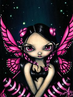 Pink Butterfly Fairy - Jasmine Becket-Griffith