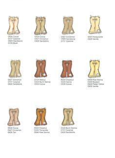 Broekjes Bruin gekleurd met promarkers