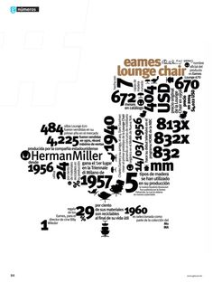 "eames lounge chair infographic featured on ""numeros"" for glocal mag"