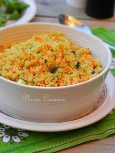Semoule légumes carotte et courgette