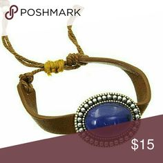 Selling this Leather & stone corded bracelet on Poshmark! My username is: jilld731. #shopmycloset #poshmark #fashion #shopping #style #forsale #Jill Marie Boutique #Jewelry