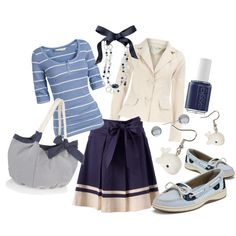 Bow Boat / Whale's Tale, created by mmdavis on Polyvore
